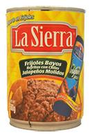 "Frijol bayo refrito con jalapeño ""La Sierra"""