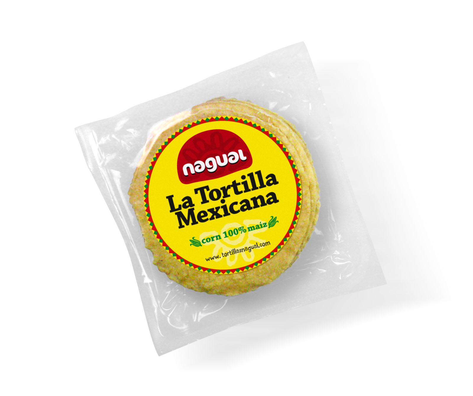 Tortilla de maíz amarillo 12cm Nagual 400gr paquete de 20uds