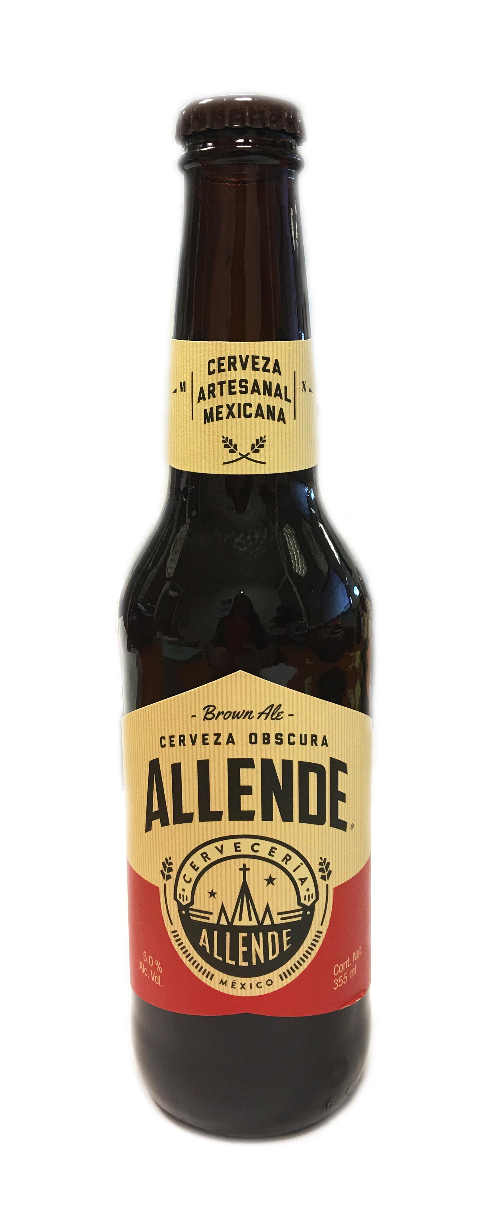 Cerveza artesanal Allende Brown Ale 355ml botella de cristal