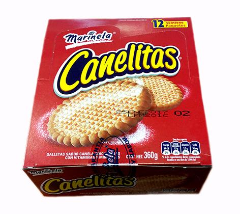 Canelitas (Galleta canela) 350g Caja cartón.