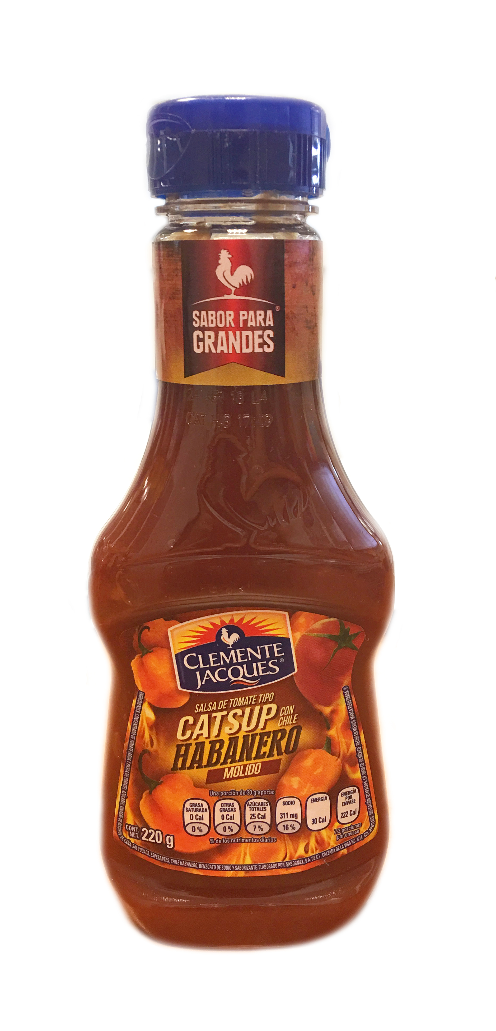 Catsup con chile Habanero Clemente Jacques 220gr botella squeeze
