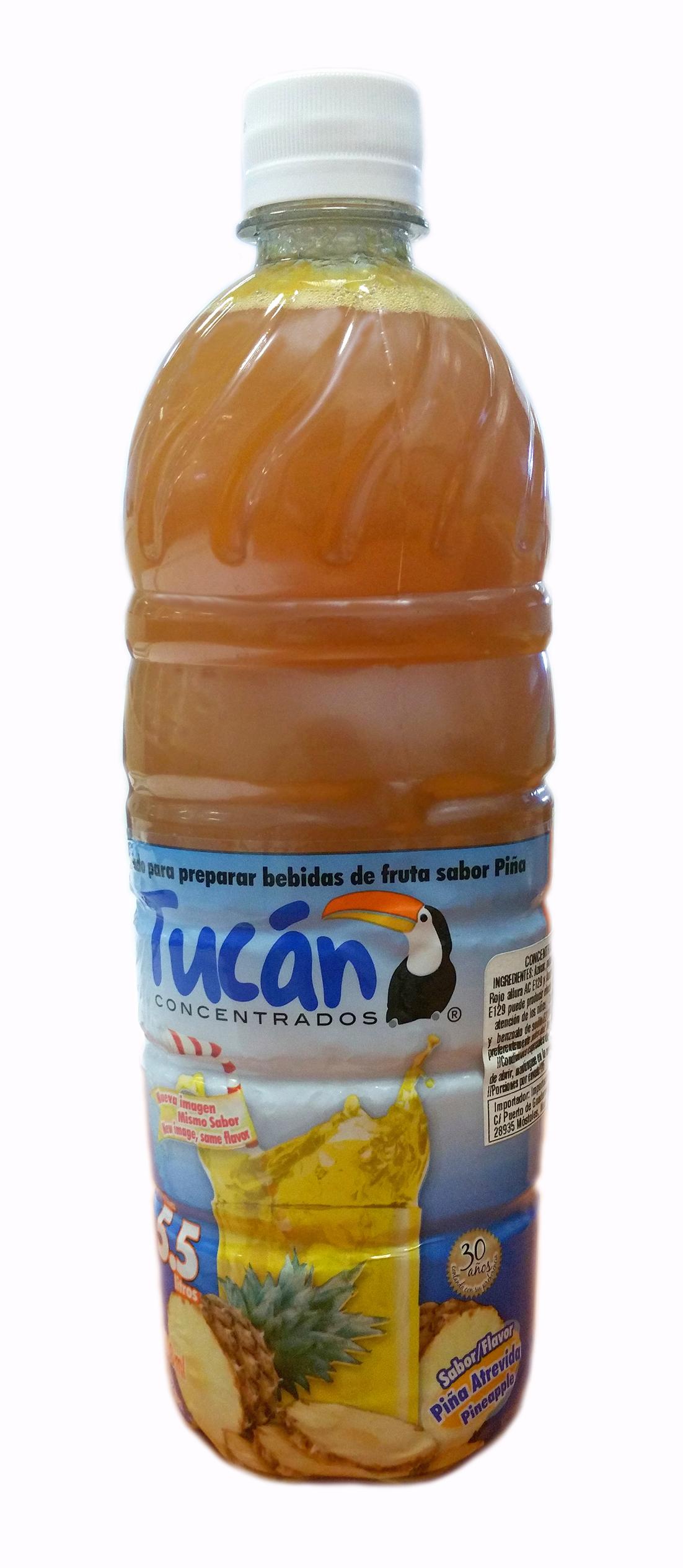 Concentrado de agua de piña Tucan 750ml Botella Plástico