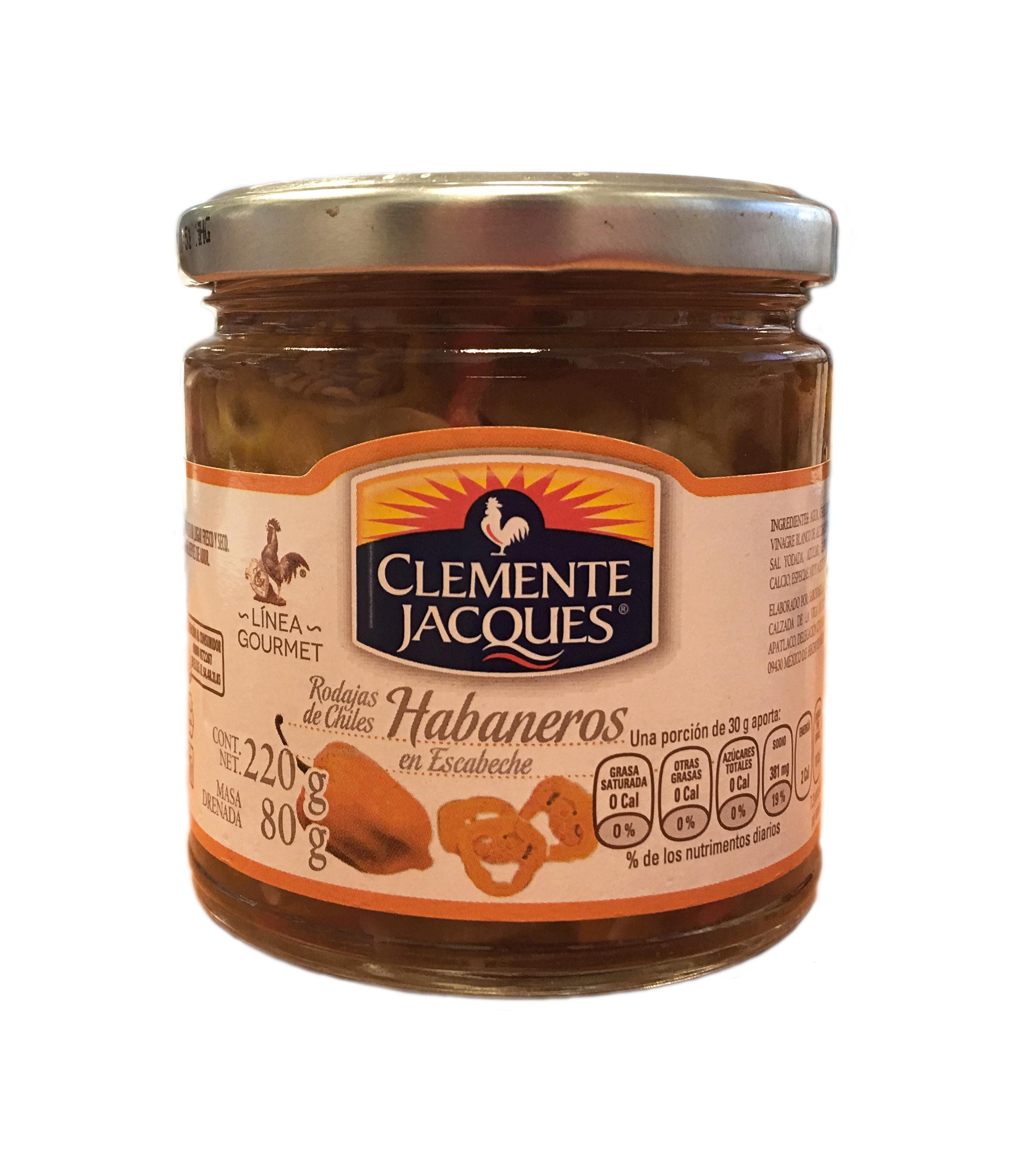 Habaneros en rodajas Gourmet Clemente Jacques 220gr frasco de cristal