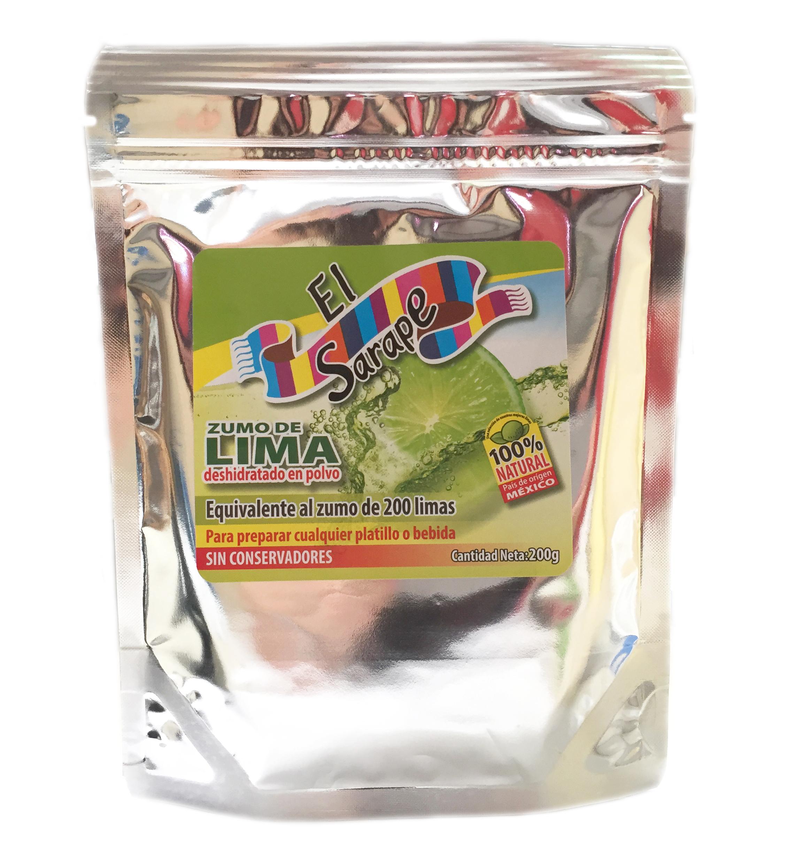 Zumo de lima deshidratado El Sarape 200gr Bolsa con abre fácil