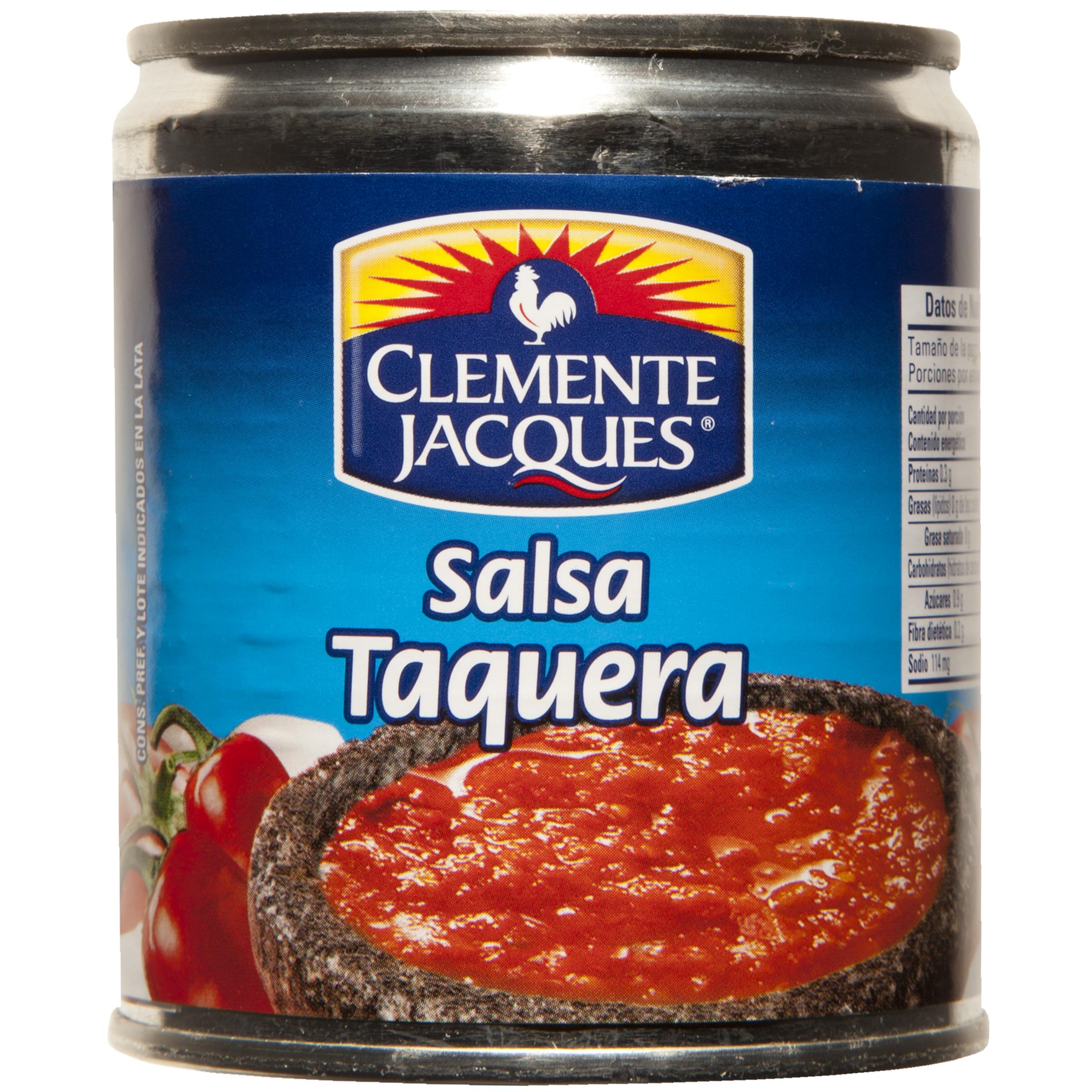 Salsa taquera 220ml clemente jacques 210g Lata