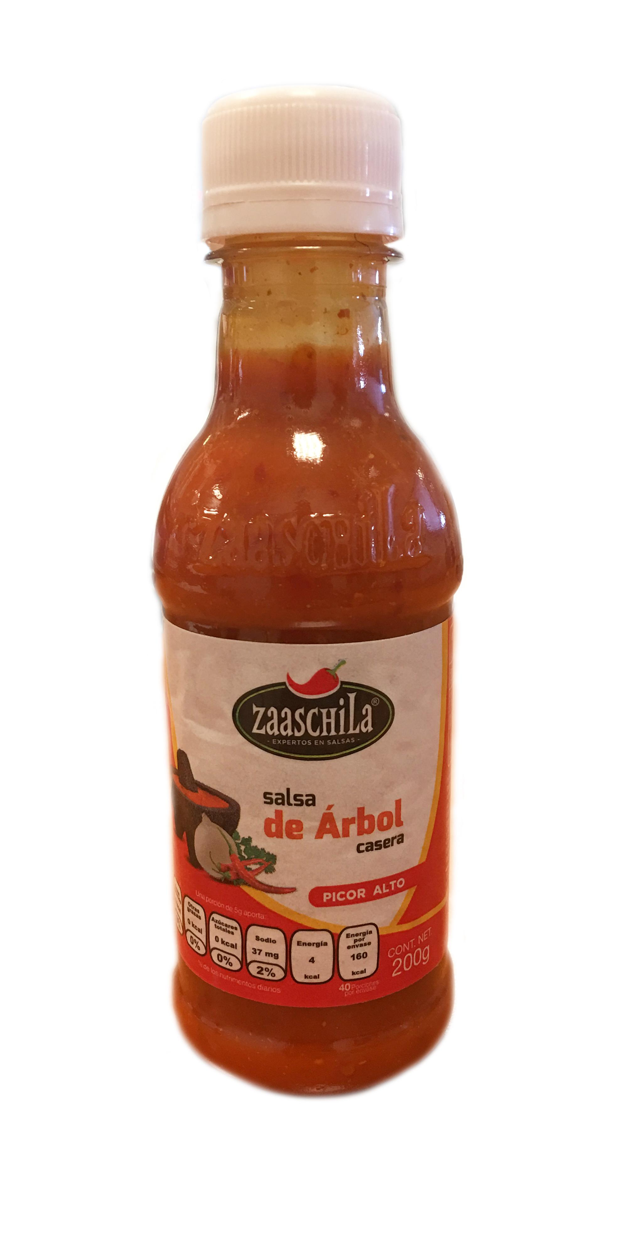 Salsa cremosa de Árbol Zaaschila 200g botella de plastico