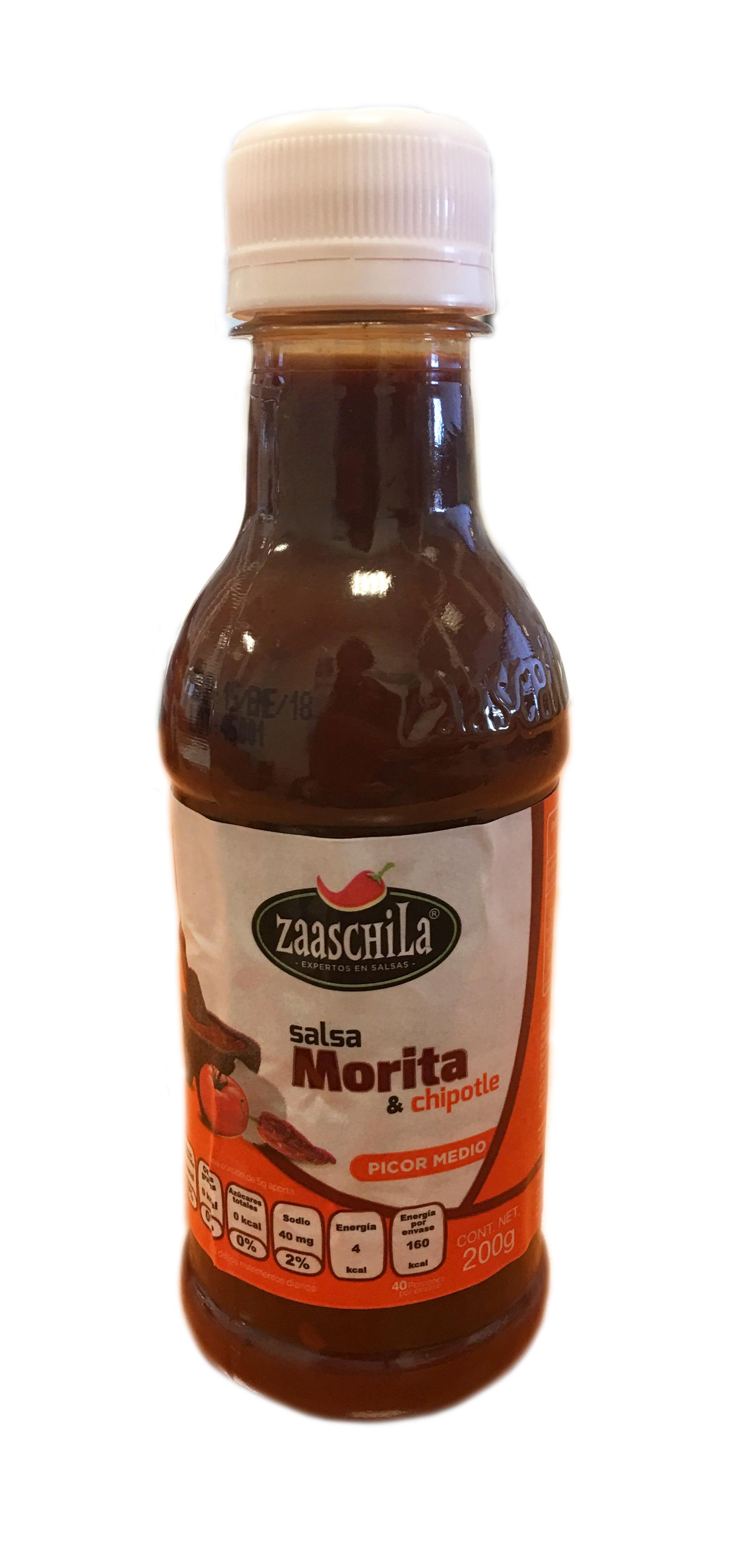 Salsa cremosa Chipotle y Morita Zaaschila 200g botella de plastico
