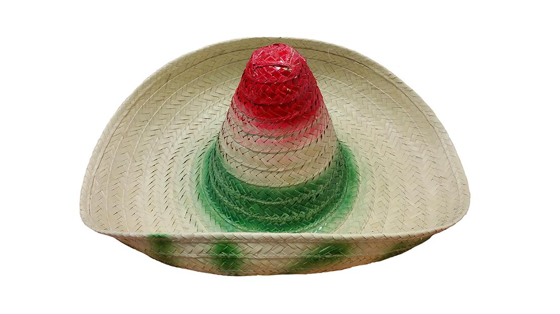 Sombreros zapatista. colores bandera