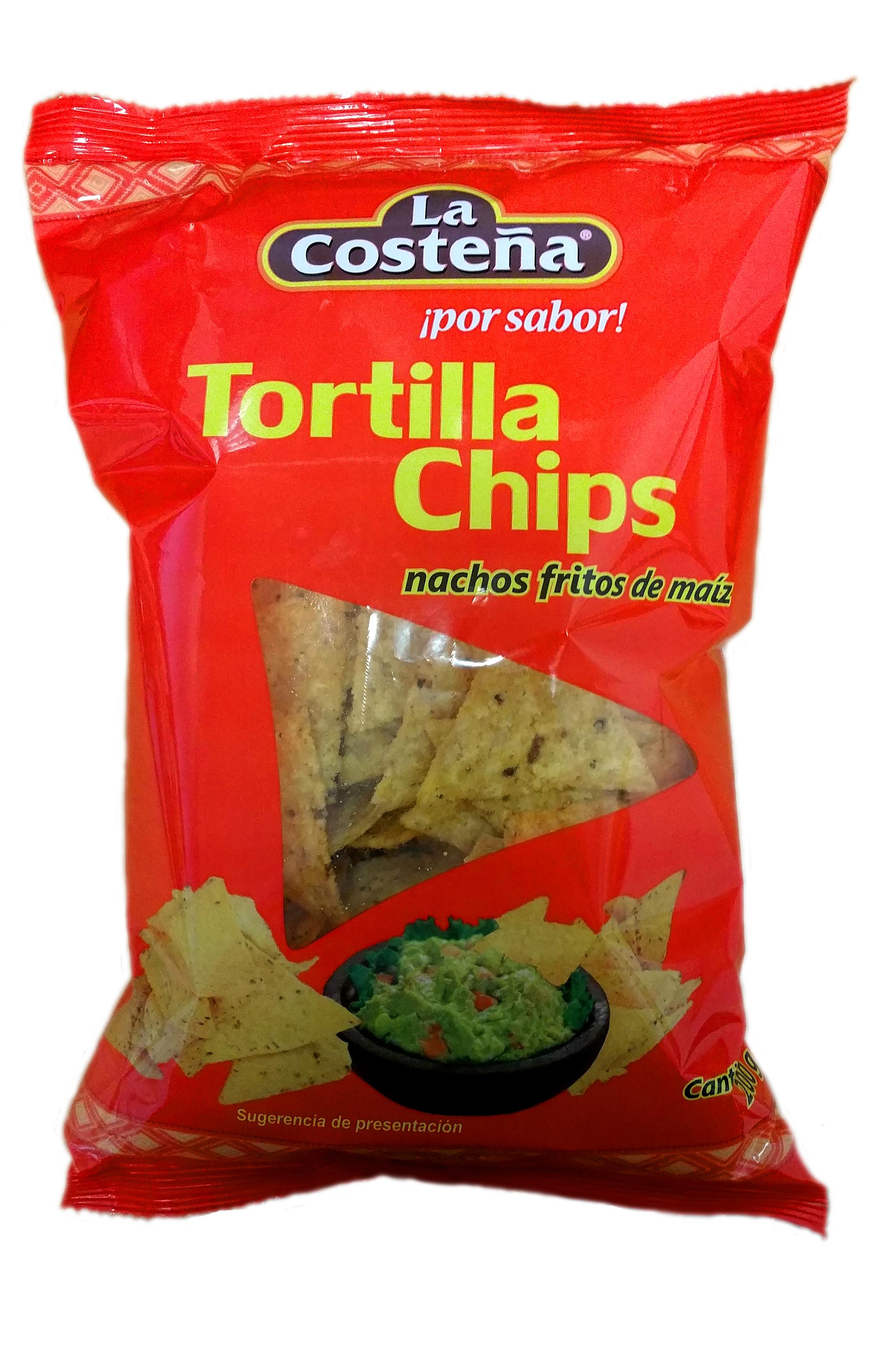Tortillas chips de maíz La Costeña 200gr 200g Bolsa