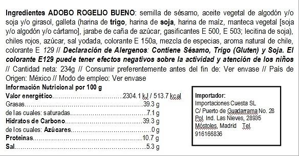Adobo en pasta Rogelio Bueno