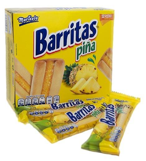 Barritas Rellenas Piña Marinela
