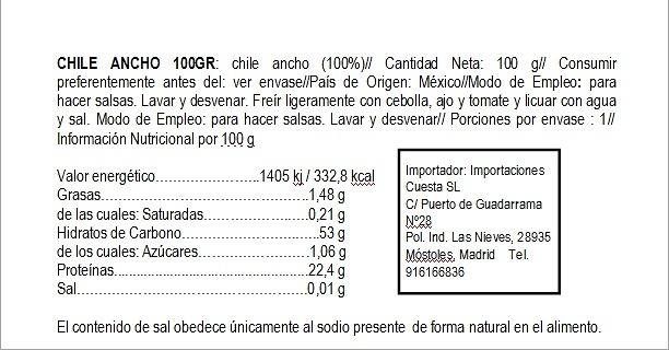 Chile Ancho seco El Sarape