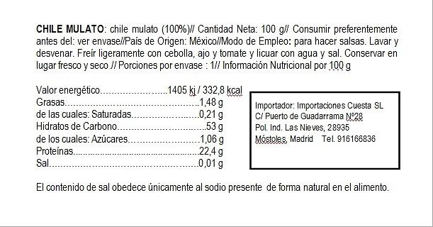 Chile Mulato seco El Sarape