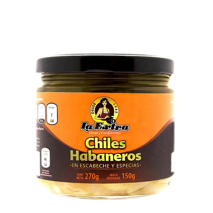 Chiles habaneros enteros La Extra