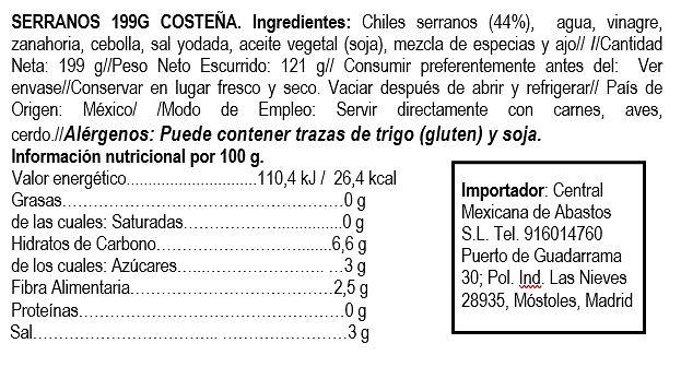 Chiles serranos 220g