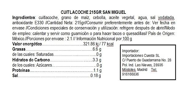 Cuitlacoche 215g San Miguel