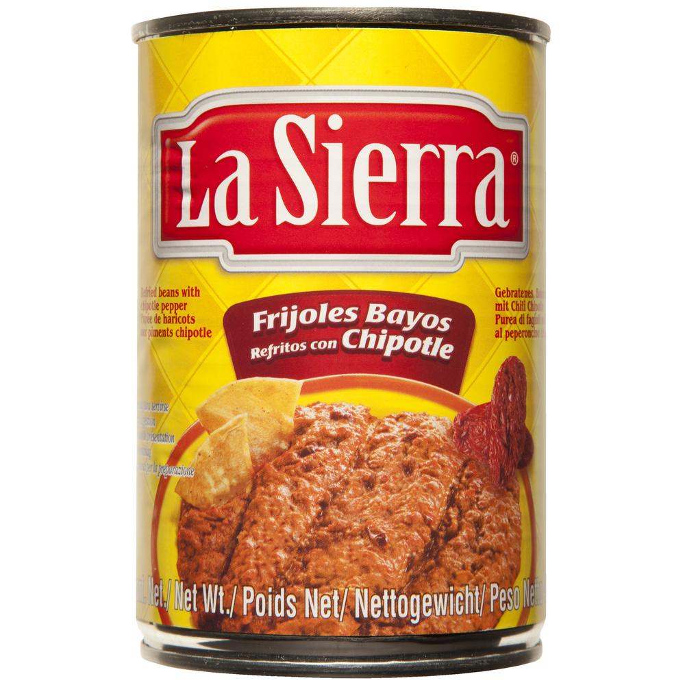 Frijol refrito con chipotle La Sierra