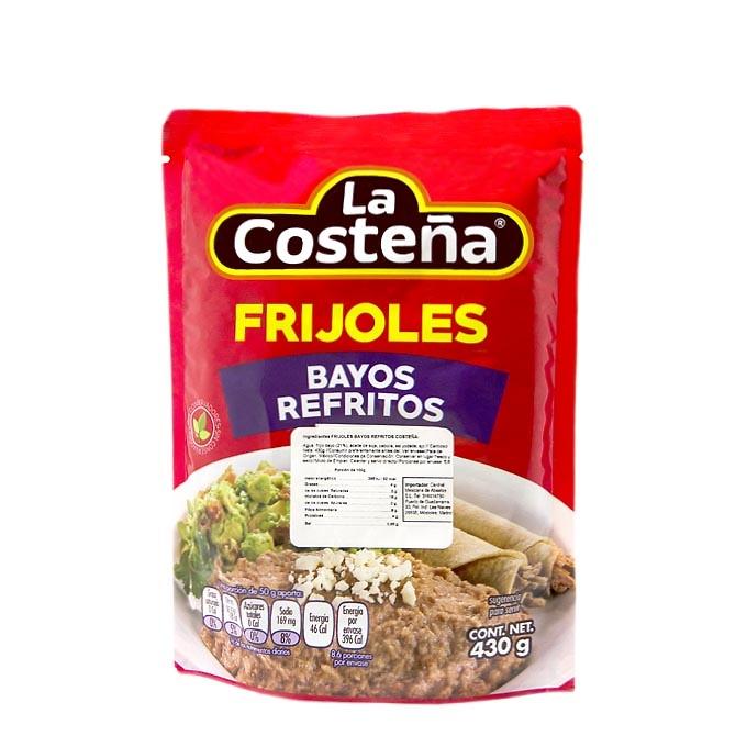 Frijoles bayos refritos (bolsa)