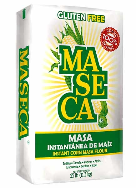 Harina de maiz blanco 2kg Maseca