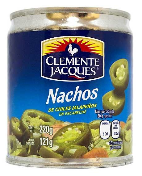 Jalapeños nachos (en rodajas) Clemente Jacques
