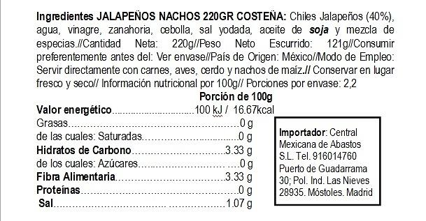 Jalapeños nachos 220gr