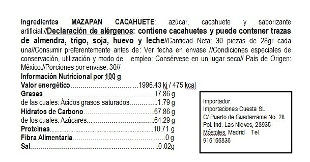 Mazapan de Cacahuate La Rosa