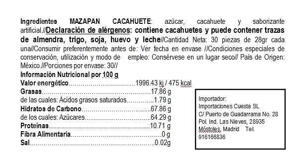 Mazapan de Cacahuete