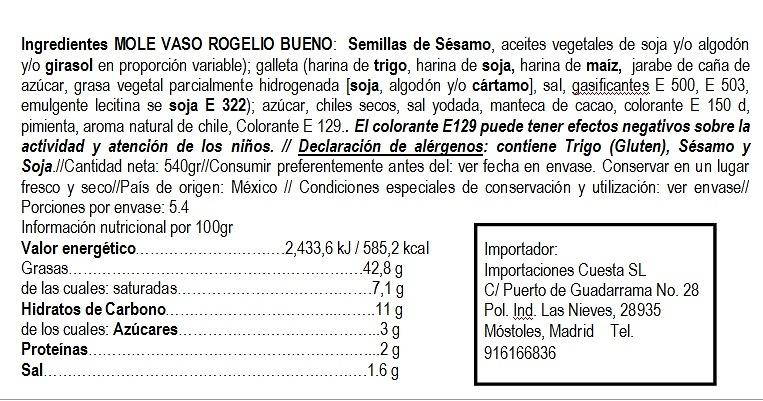 Mole rojo en pasta Rogelio Bueno
