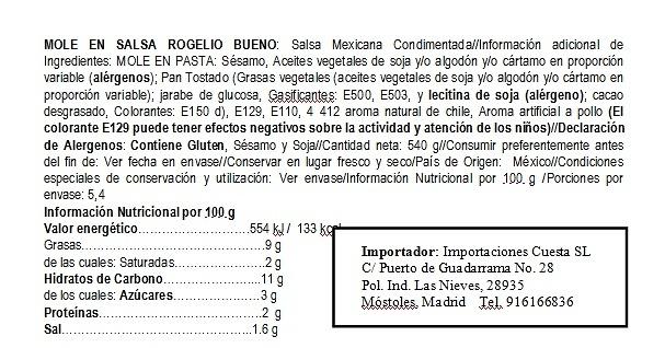 Mole rojo en salsa. Rogelio Bueno