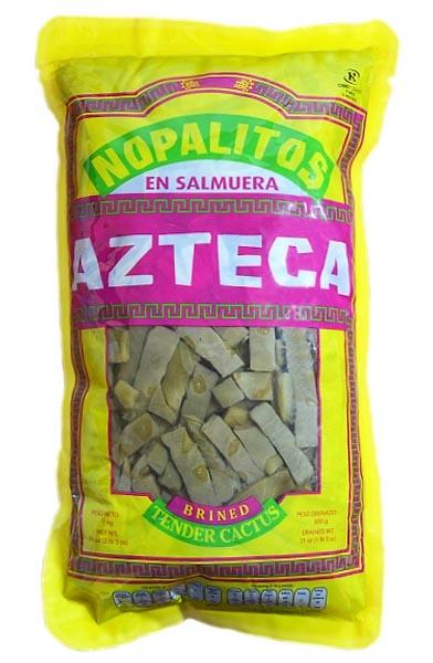 Nopales en rebanadas en salmuera( al natural ) 1kg Azteca (bolsa)