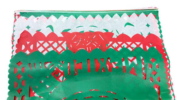 Papel picado 50m colores bandera