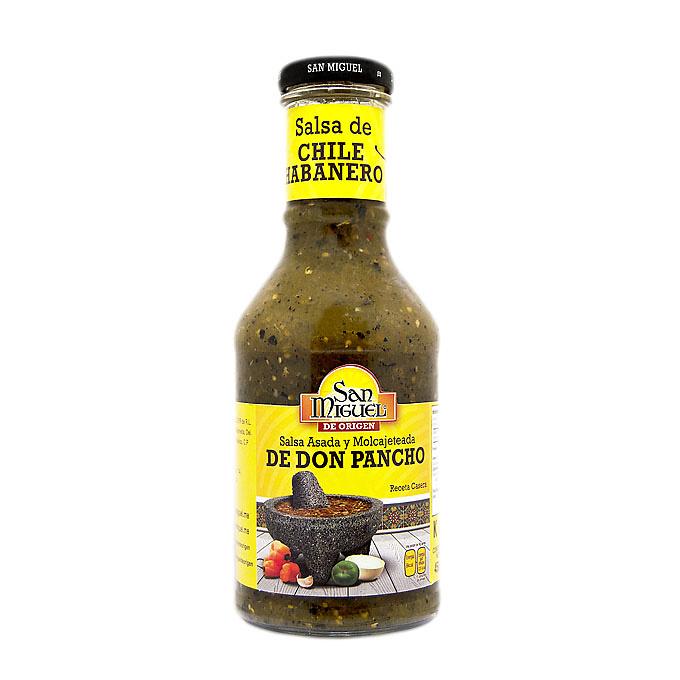 Salsa de chile habanero de Don Pancho, marca San Miguel