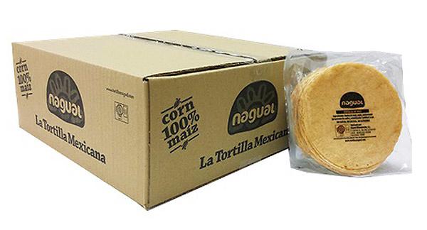 Tortilla de maíz amarillo 12cm Nagual