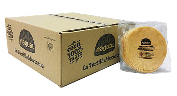 Tortilla de maíz amarillo 15cm Nagual