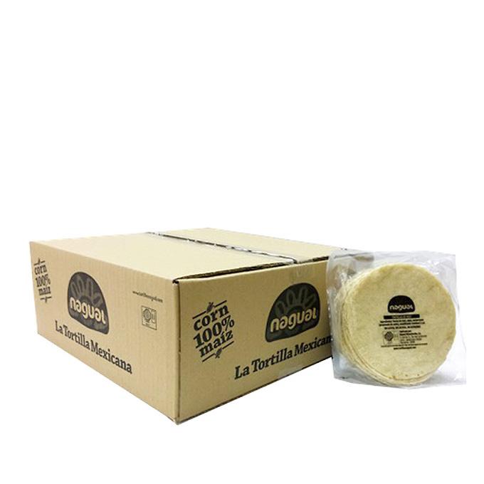 Tortilla de maíz blanco 12cm Nagual