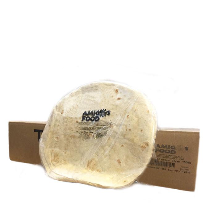 Tortilla de trigo 30cm (10uds)