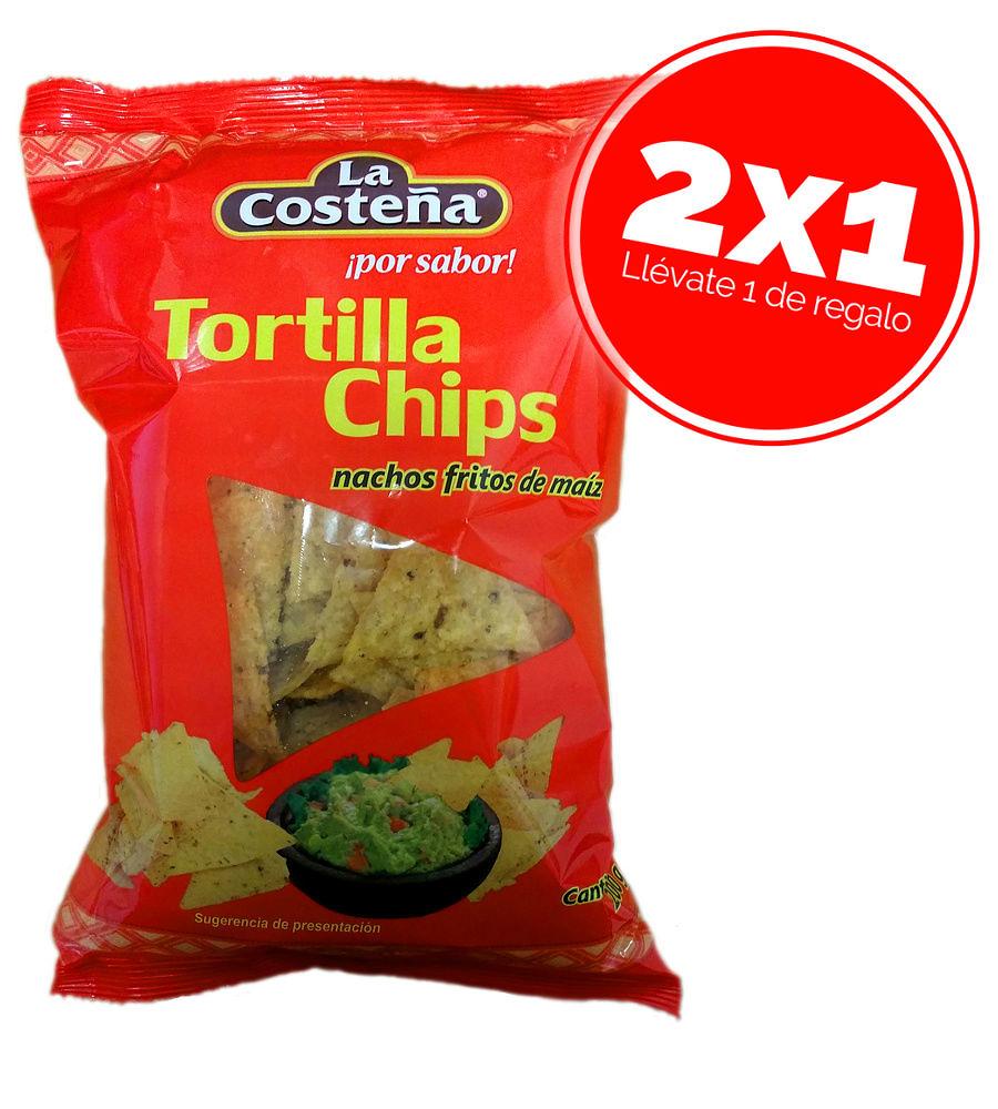 Tortillas chips de maíz La Costeña 200gr - Oferta 2x1