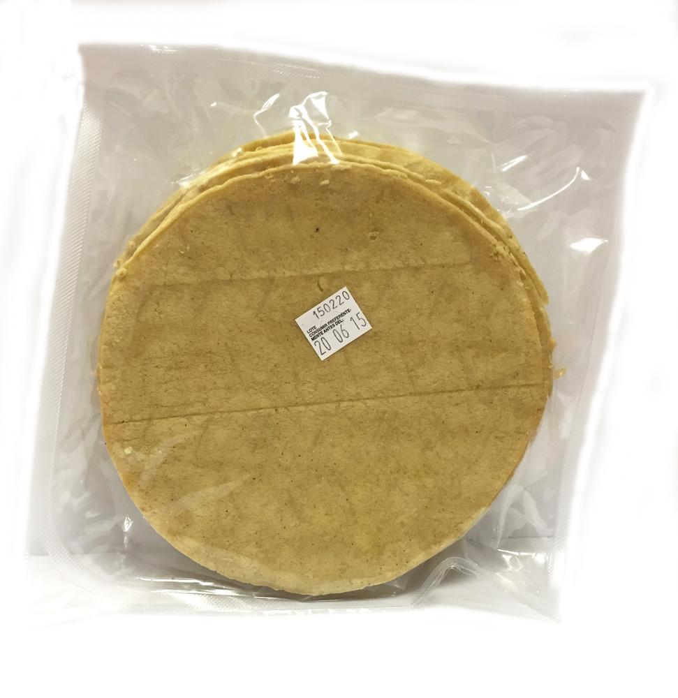 Tortillas de maíz amarillo 15cm Nagual