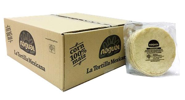 Tortillas de maiz blanco 15cm Nagual