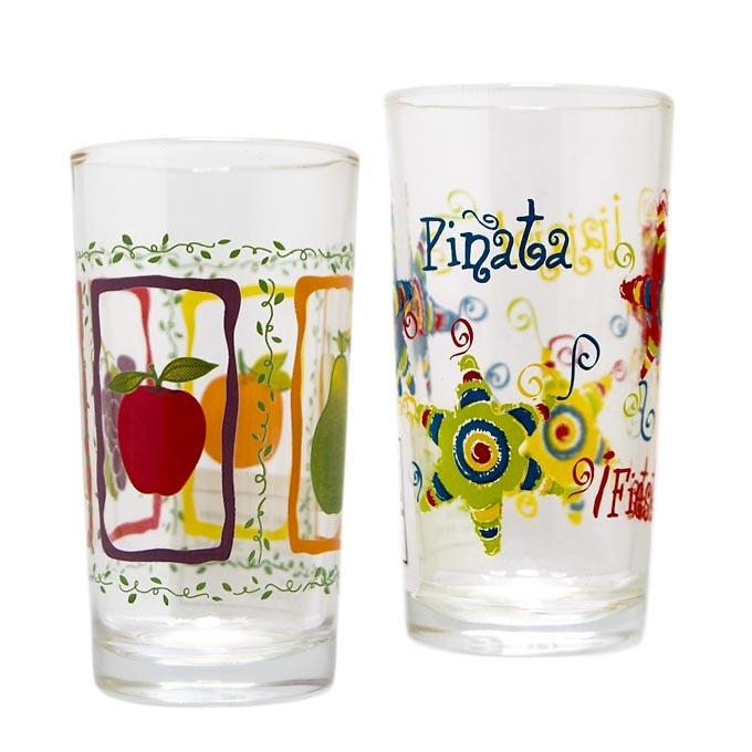 Vaso de cristal decorados