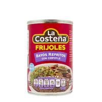 """Frijoles bayos refritos con chipotle """"La Costeña"""""""
