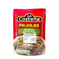 """Frijoles negros refritos (bolsa) """"""""La Costeña"""""""""""