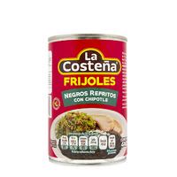 """Frijoles negros refritos con chipotle """"La Costeña"""""""