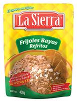 Friljoles bayos refritos en bolsa, La Sierra
