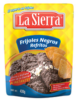 Friljoles negros refritos en bolsa, La Sierra