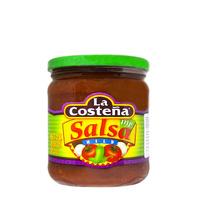 Salsa dip suave La Costeña + ¡REGALO 1 BOLSA NACHOS CHIPS CHEFMEX! 453g frasco de cristal