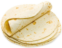 Tortilla trigo 25cm (18 uds)